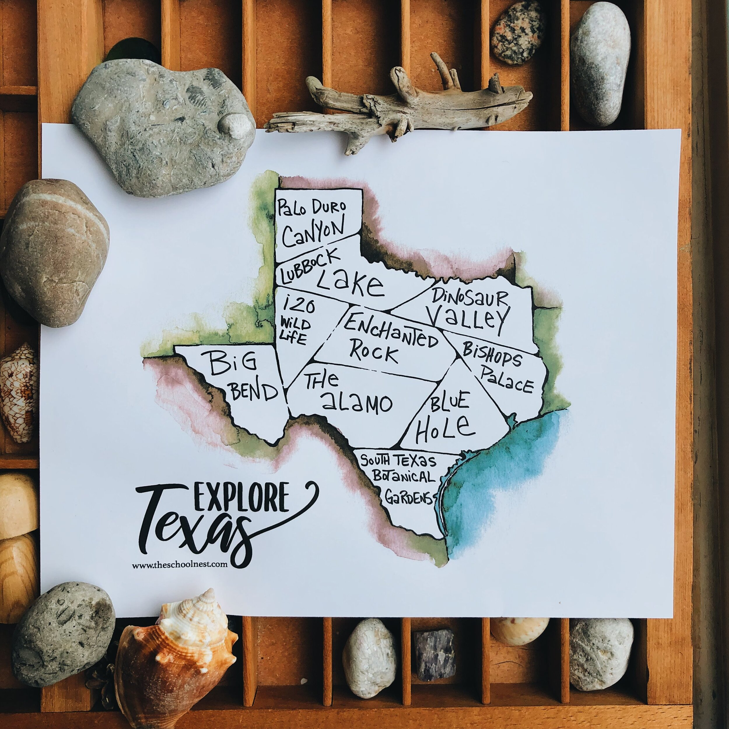 Explore Texas: An Adventure Tracker Printable   theschoolnest.com
