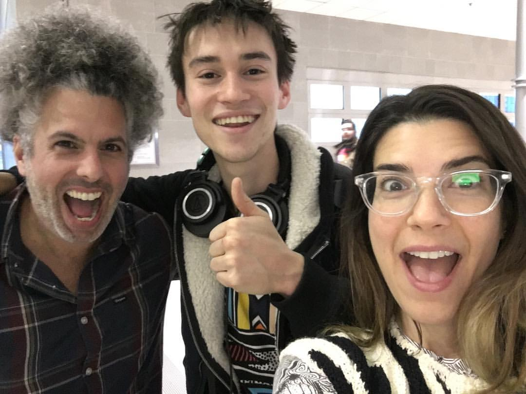We already thought the Detroit airport was cool, but meeting @jcolliermusic + bookie and Ben was 1st class! #inspired #music big thx to @groundupfest again!! #memories  (at Detroit Metro Airport (DTW))