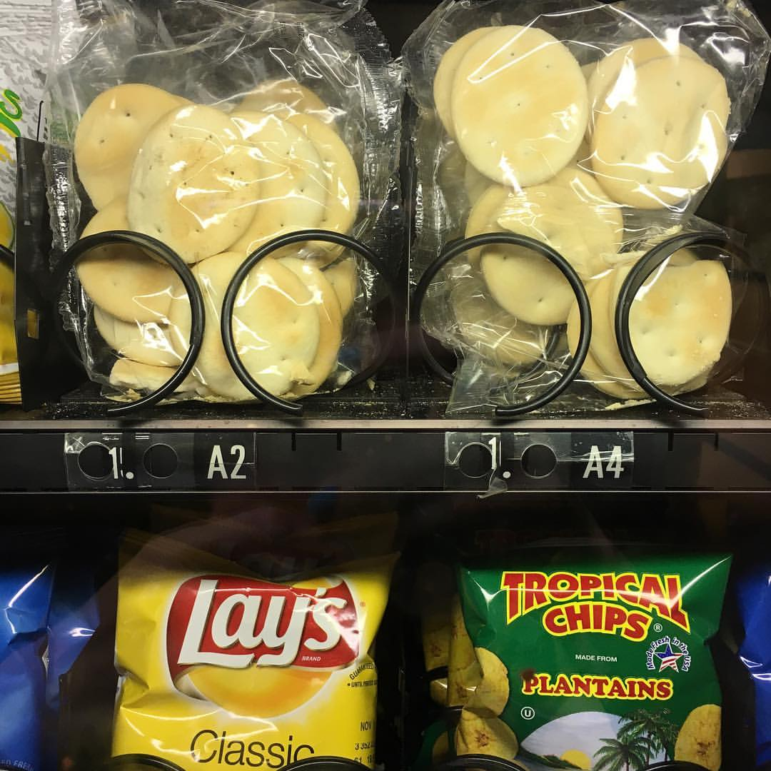 At Hialeah Hospital where there are Cuban crackers in the vending machines. #onlyinmiami  (at Hialeah Hospital)