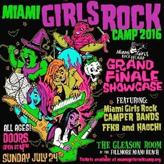 Sunday July 24th! Excited to watch this year's campers ROCK at a sick venue! @fillmoremb thx for making it happen! @miamigirlsrockcamp  (at Miami Beach Community Church)