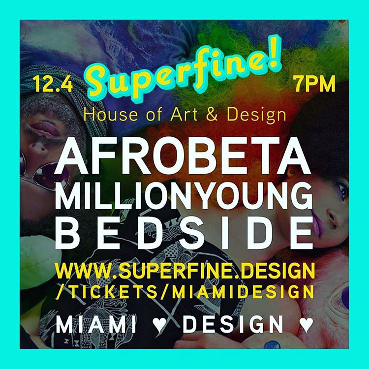Tonight. Divine. At @superfine.design - see ya there tootz! (at Little Haiti)