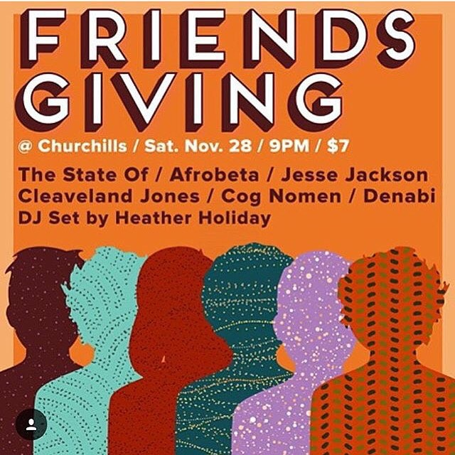 Hugs are requested and encouraged! Come get yours! Tonight we are live @churchills_pub w Jesse Jackson @the_state_of @cognomenmusic denabi @cleavelandjones @djheatherholiday luv ew (at Churchill's Pub)