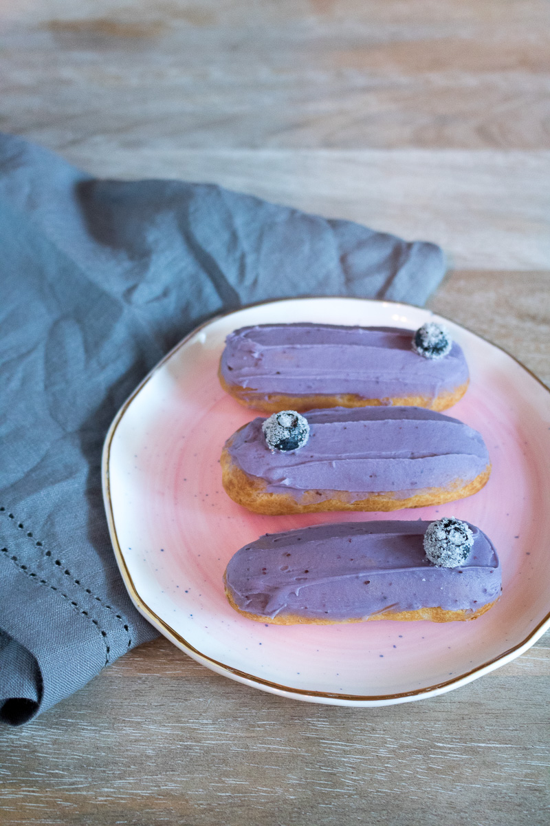 Mini Lemon Blueberry Éclairs | A Dash of This 004