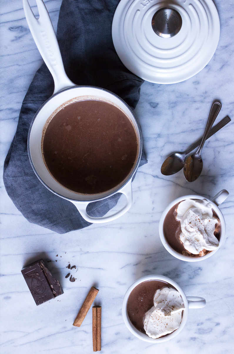Bourbon Spiced Hot Chocolate | A Dash of This 001