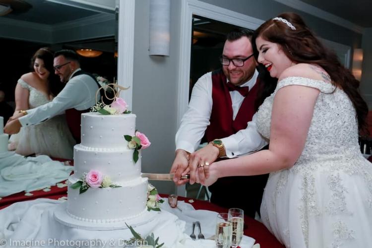 blush florals for wedding cake
