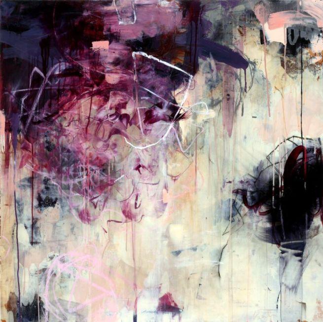 """Opus 10, Acrylic, oil, alkyd, wax on wood, 40""""x40"""""""
