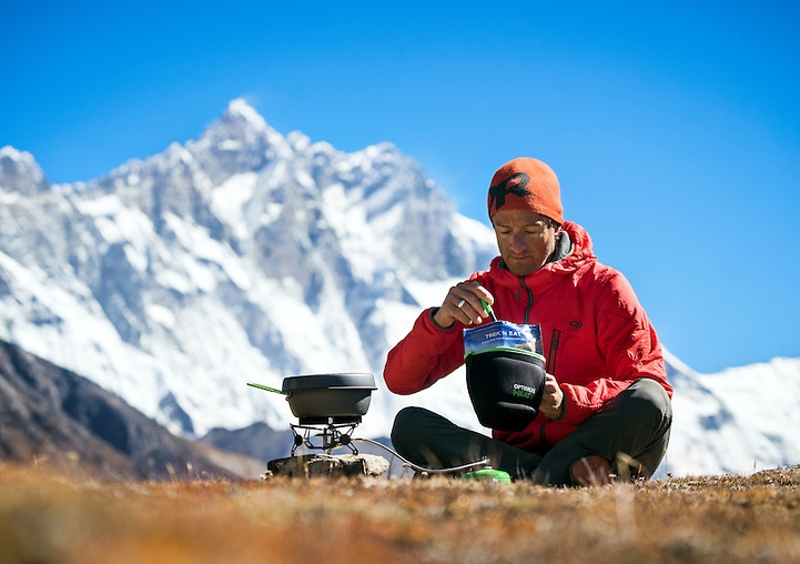 If you use freeze-dried meals from camping stores, be prepared to need more water and a stove.