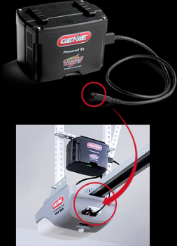 A backup battery can be installed on some models or comes standard on most newer ones.