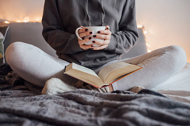 Get cozy with a book and a cup of tea
