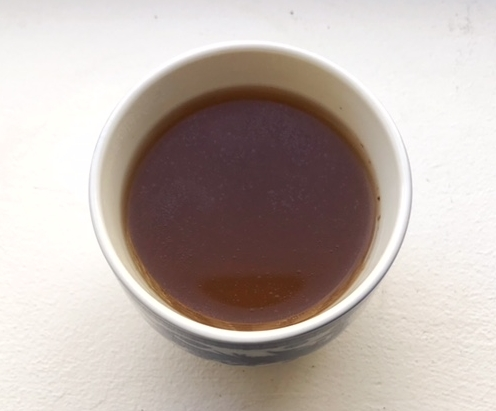 Warm cup of homemade bone broth