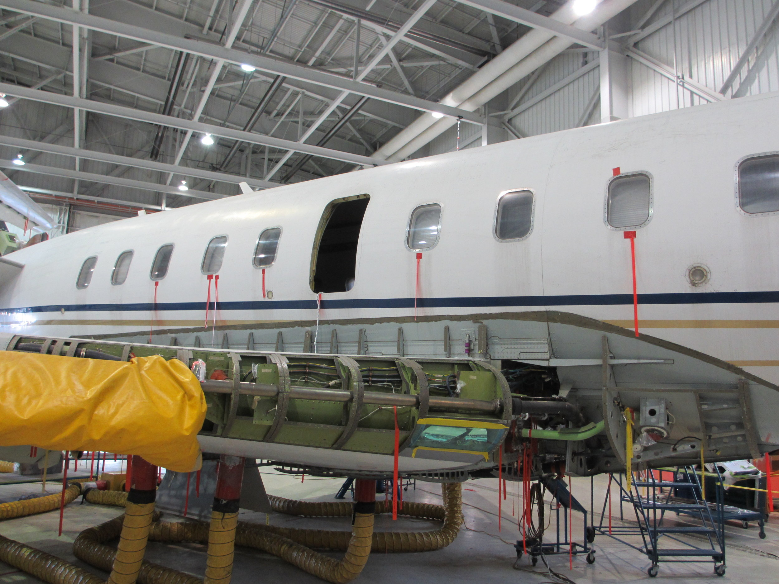 Bombardier undergoing 8C maintenance inspection