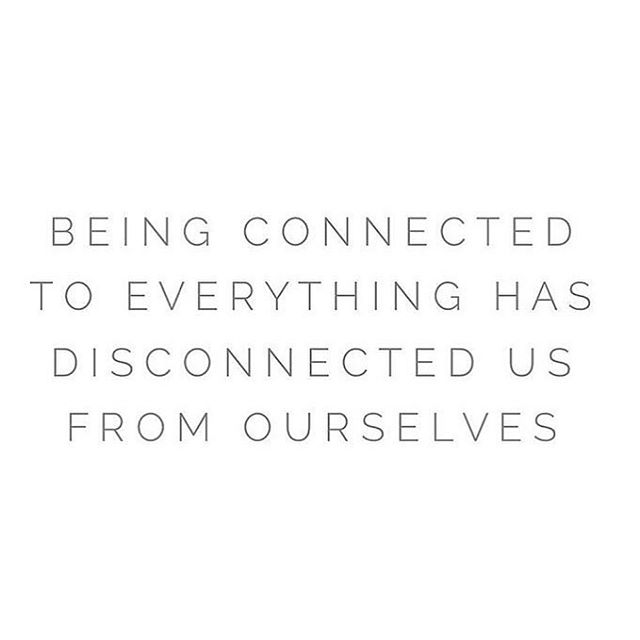 Let's plug ourselves back in for a bit k.  Reconnect, rest, restore and remember who you are. 🔌  Feeling this in a soul level, you too?!