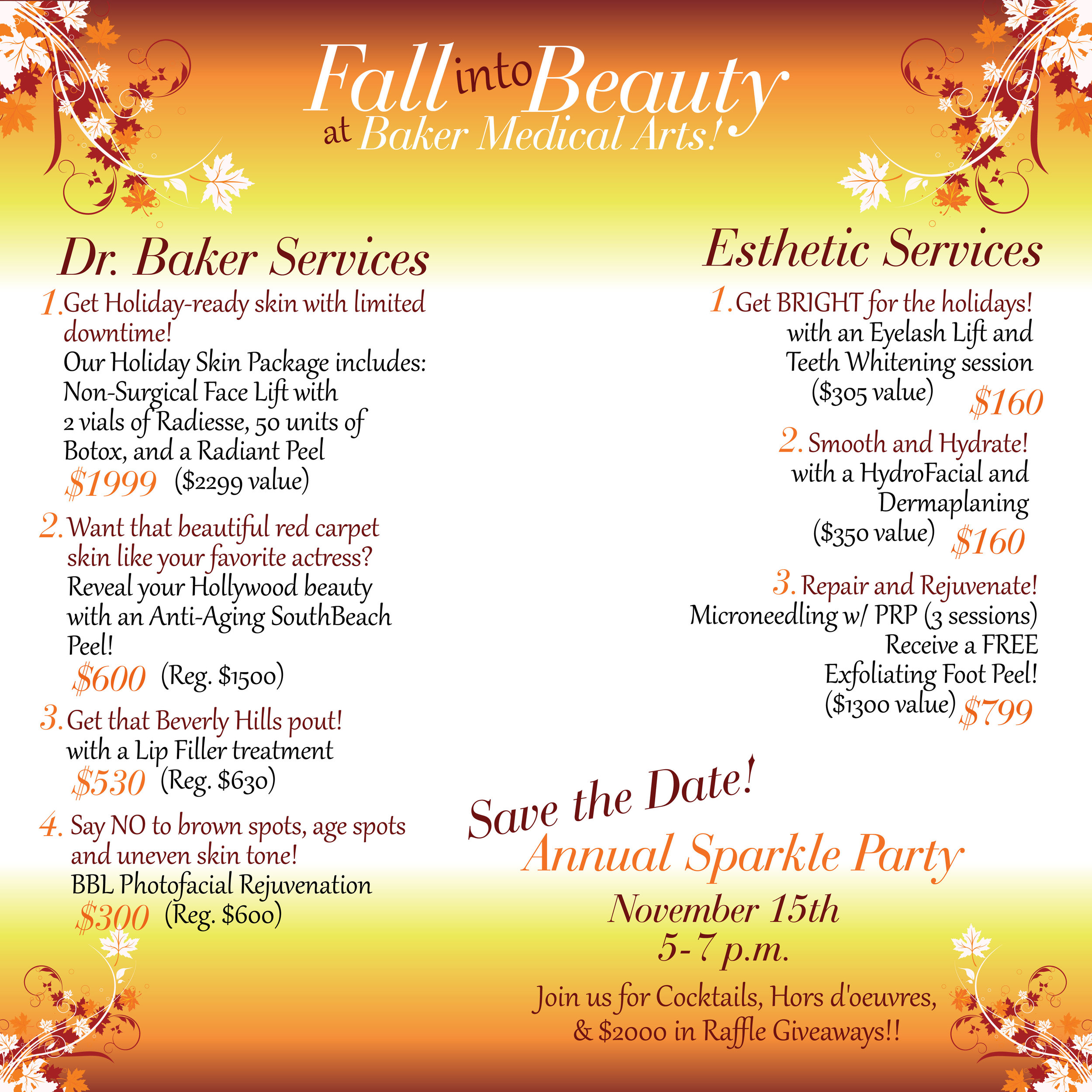 Fall into Beauty at Baker