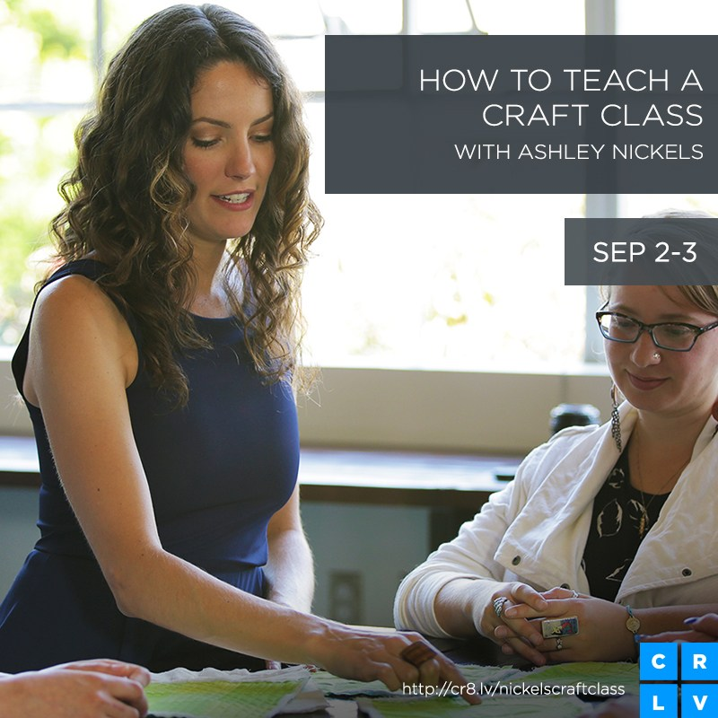 How to Teach a Craft Class CLive