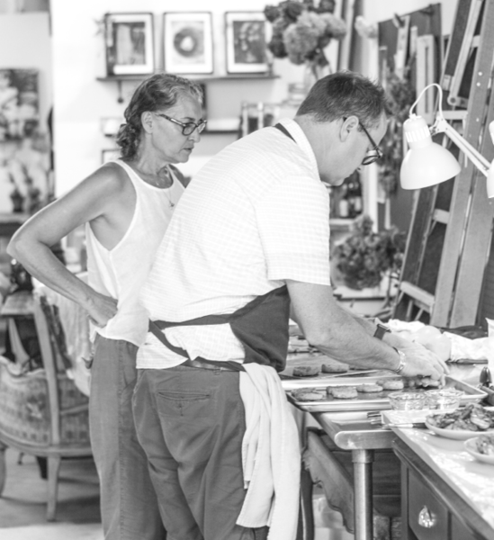 Photographer Gina Weathersby and food stylist Jeffrey Martin