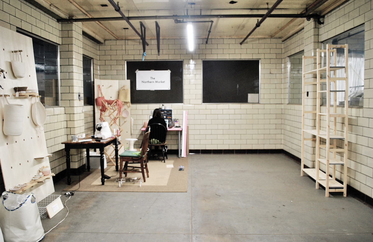 The Northern Market studio sits next to an available space. Small studios are $150/month.