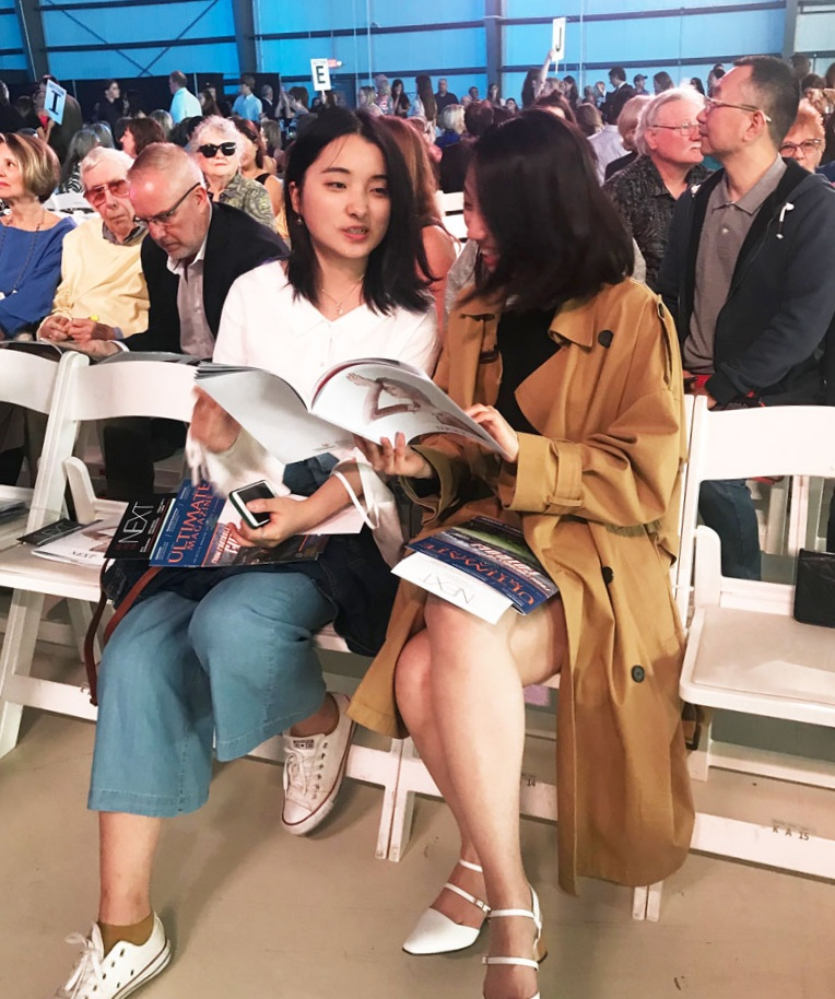 Fashion show VIP attendees pored over the book. It was a big hit!