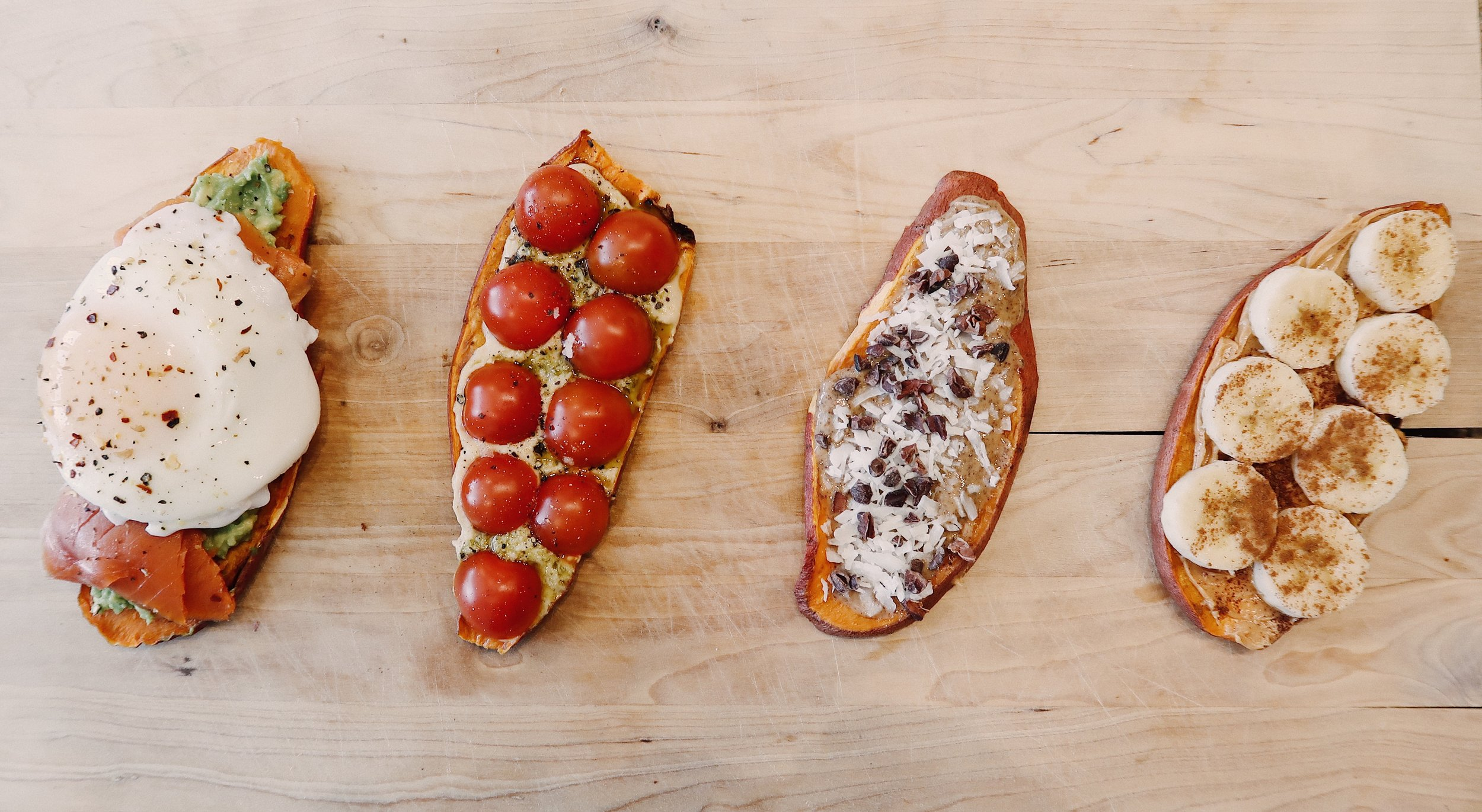 Sweet Potato Toast 4 Ways // The State of Grace