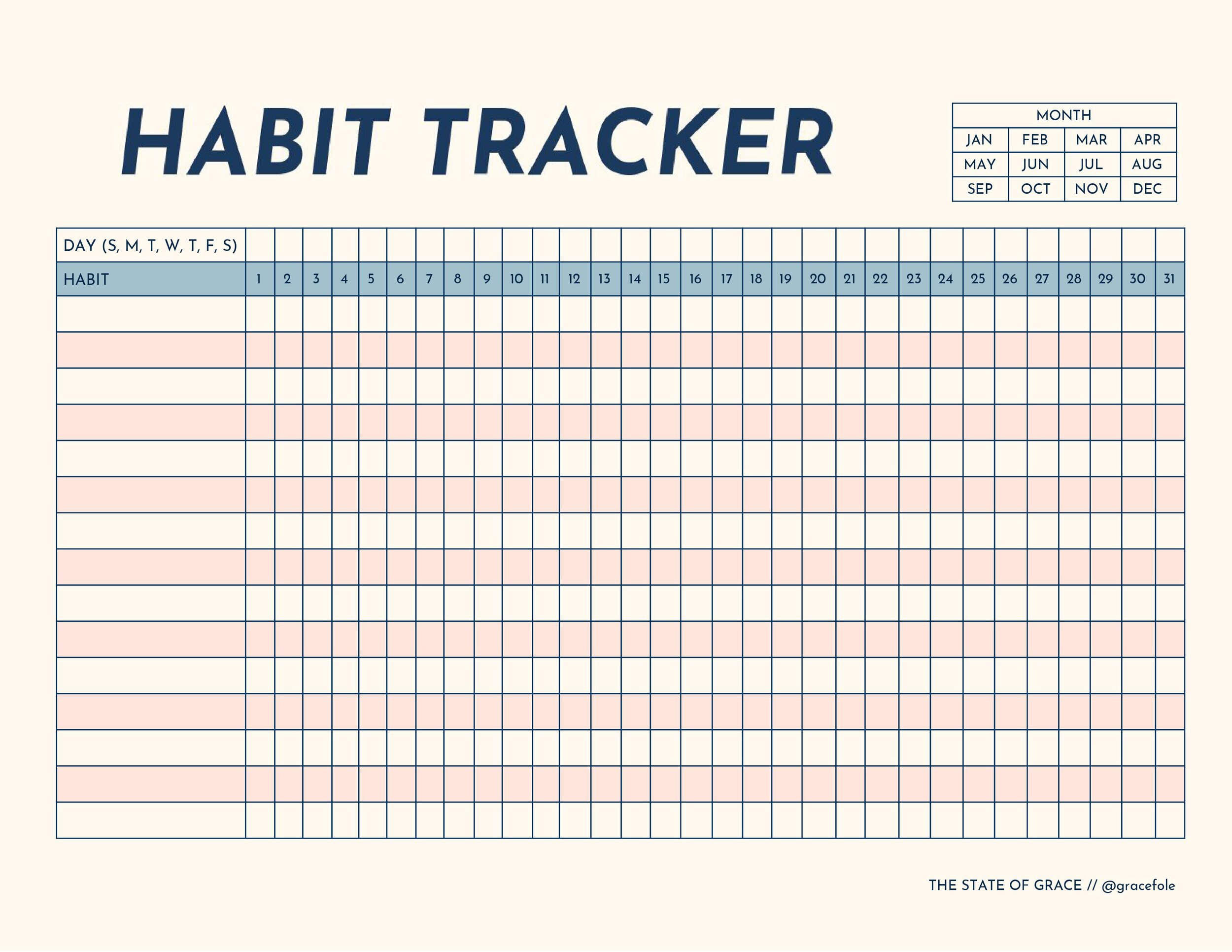 You can download my Habit Tracker template by clicking on the image above.