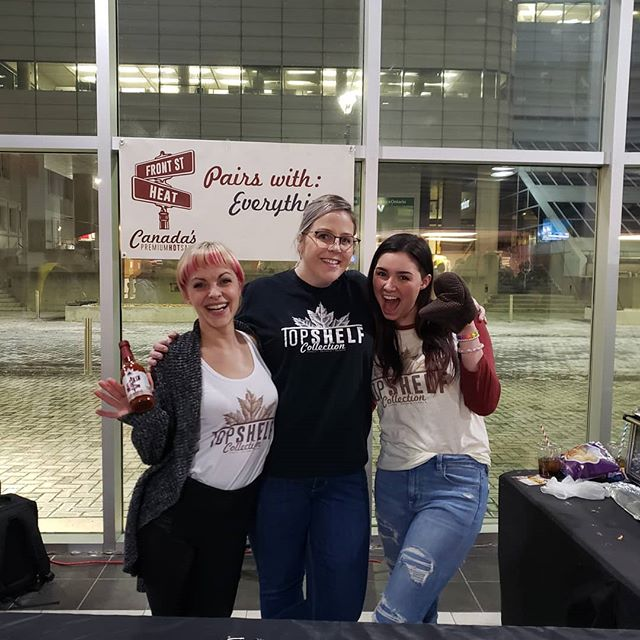 On this day we are especially grateful for the women that help us make it all happen. Tonight these amazing ladies are CRUSHING IT at Budweiser Gardens for the Knights game! ❤ We love and appreciate you so much.❤ #TopShelfWomen #internationalwomensday2019