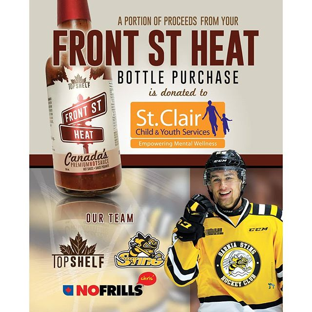 Did you know that Top Shelf Canada/No Frills/The Sarnia Sting have teamed up to raise funds for St.Clair Child and Youth!? Grab a bottle today at Sarnia or Corunna locations!!