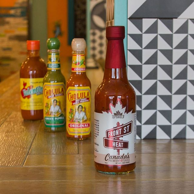 Joining the hot sauce lineup available on every table when you dine at this authentic Mexican gem in Point Edward, ON!! Thanks for having us @lospuntoscantina !! Just in time for Cinco de Mayo! 🇲🇽 #PerfectMatch #CanadasHotSauce