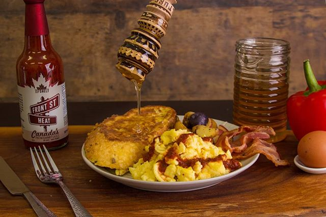 If you aren't kicking up your breakfast in the morning with 🔥Front St Heat🔥....You're doing it wrong. 🤤  Pairs with: Eggs  #BreakfastCompanion #CanadasHotSauce