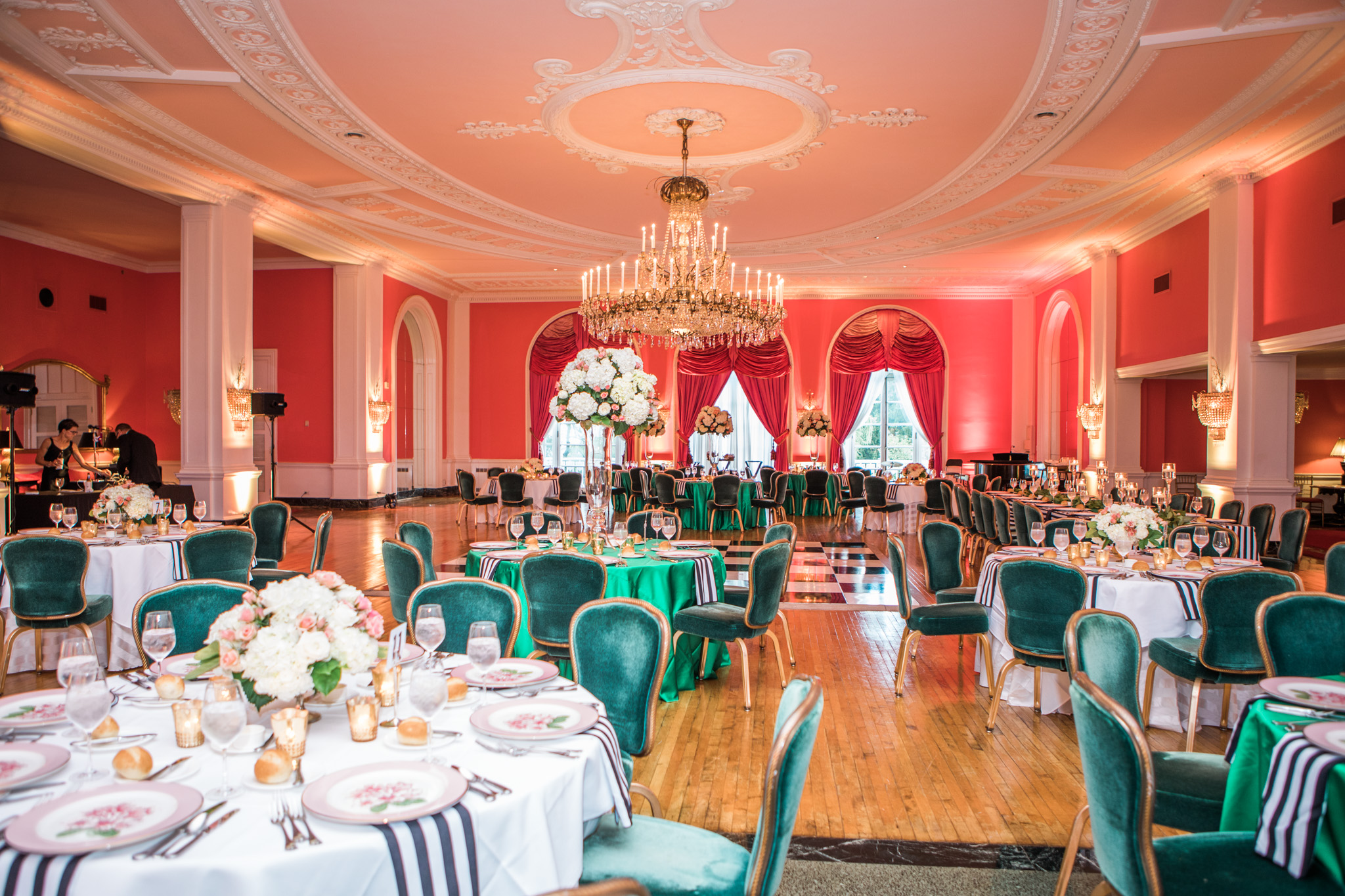 """Gillespie's always does a stunning job at any wedding I've photographed. This was an iconic """"Greenbrier"""" themed reception."""