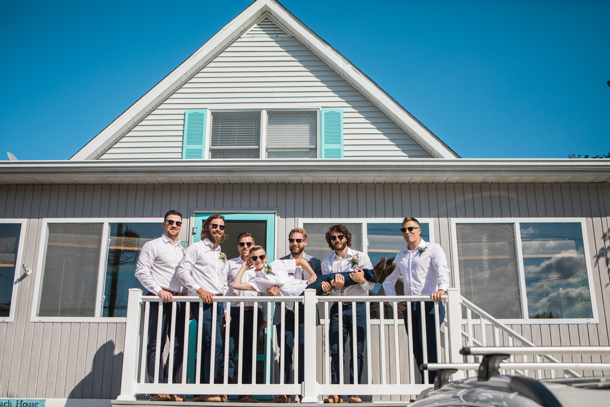 The guys' Lewes beach house was pretty cool!