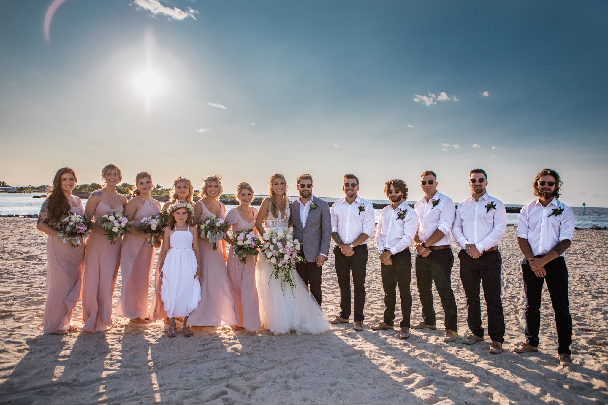 The wedding party look STUNNING.