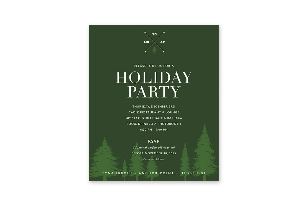 Holiday Party Invitation for MedBridge