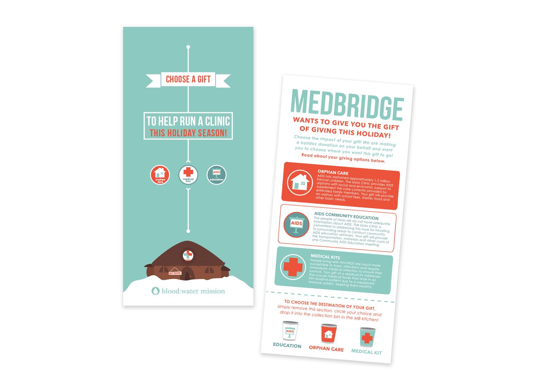 Holiday Giving rack card for MedBridge