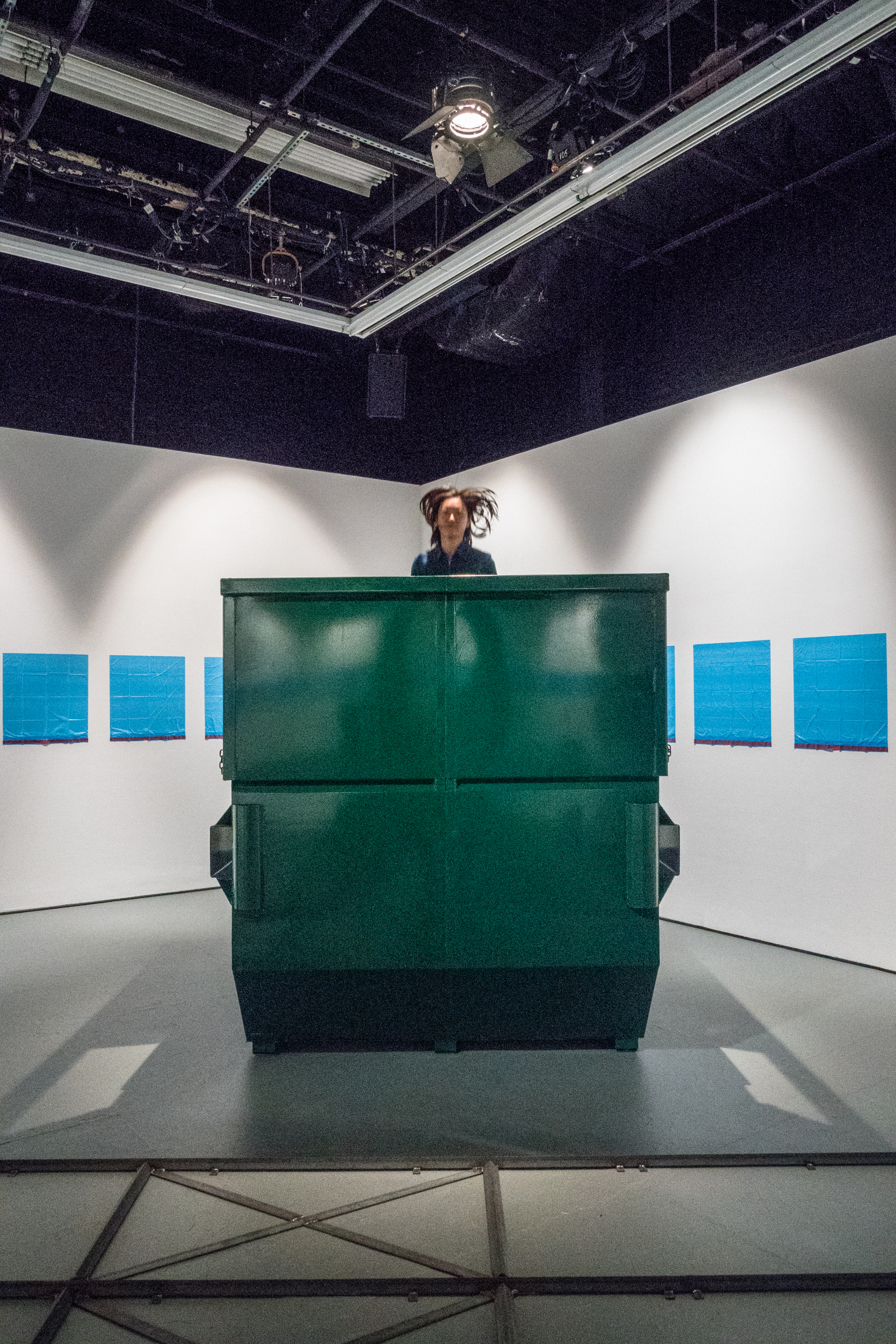 Installation image of Aki Sasamoto's  Yield Point  at The Kitchen, 2017. Photo: Jason Mandella.