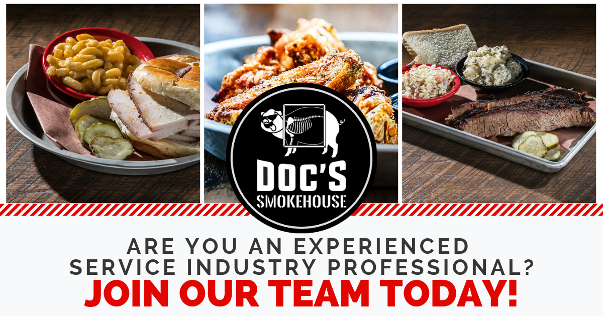 Work at DOC'S Smokehouse!