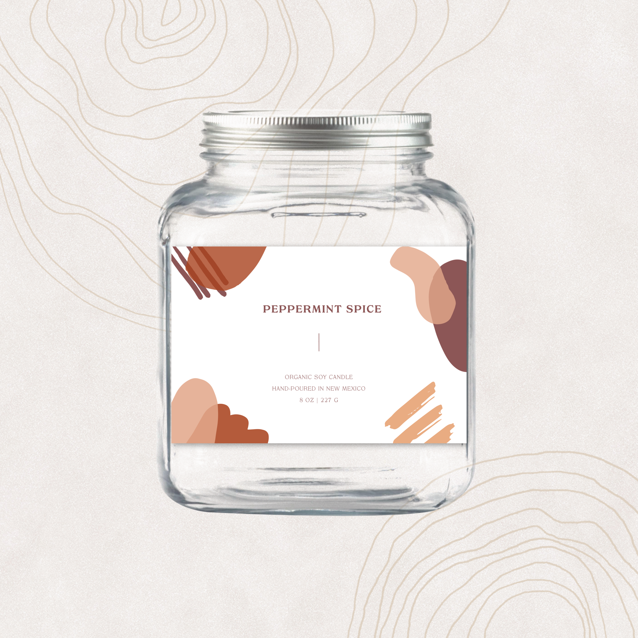Custom candle label concept design made for a client with Over.