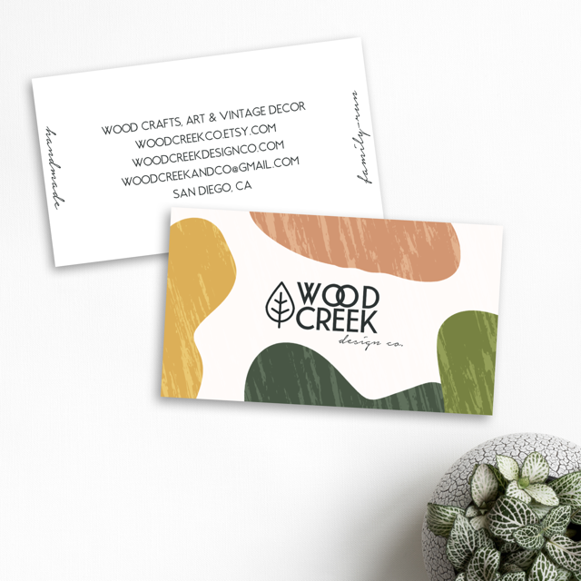 Business card design made completely in Over.