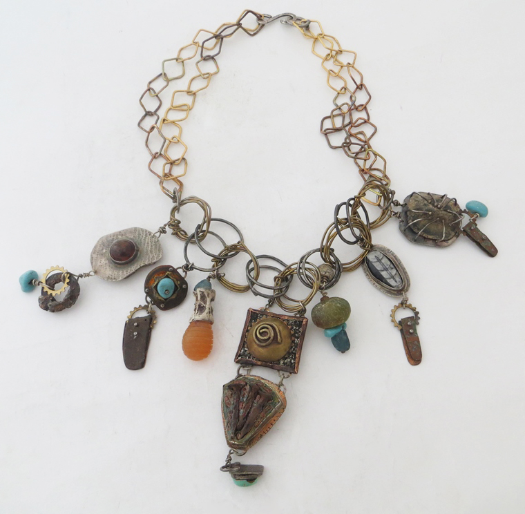 Fossil and Roman Glass Necklace
