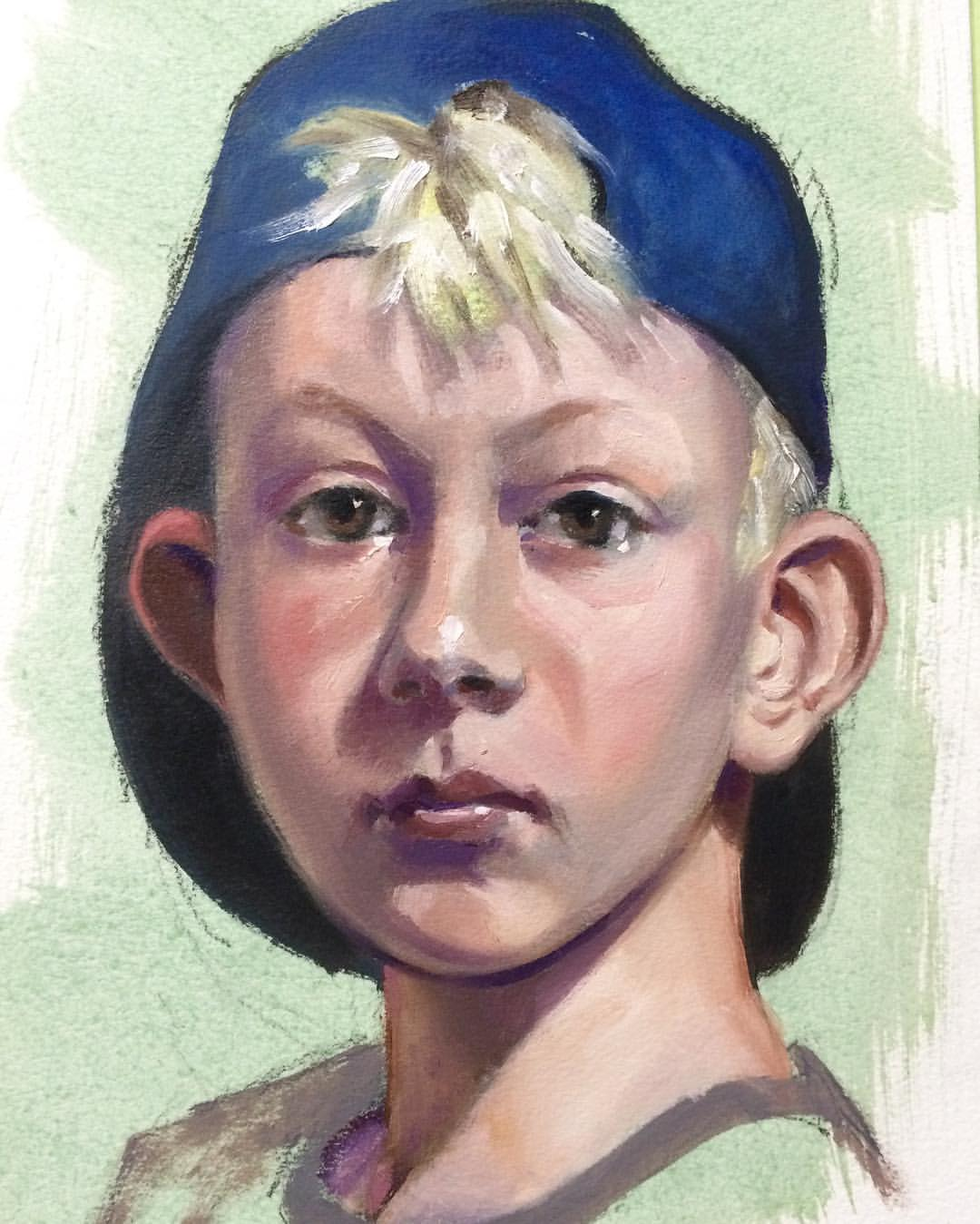 Boy in Blue Cap