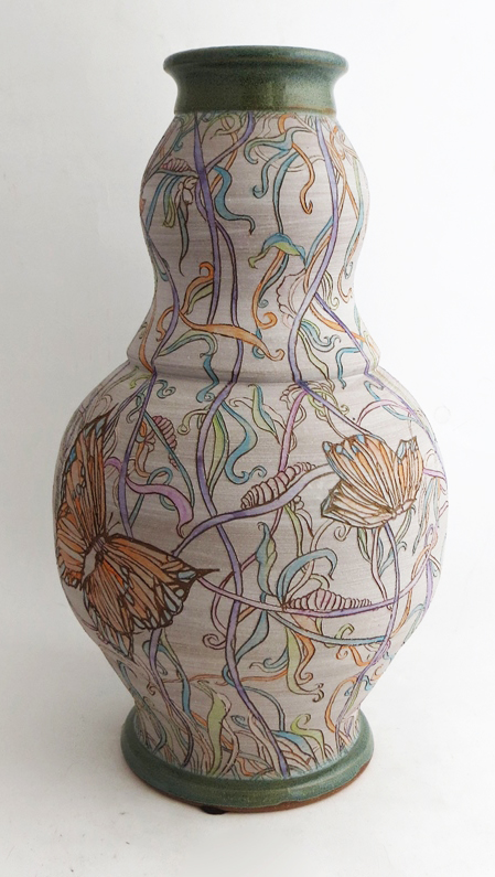 Painted Butterfly Vessel
