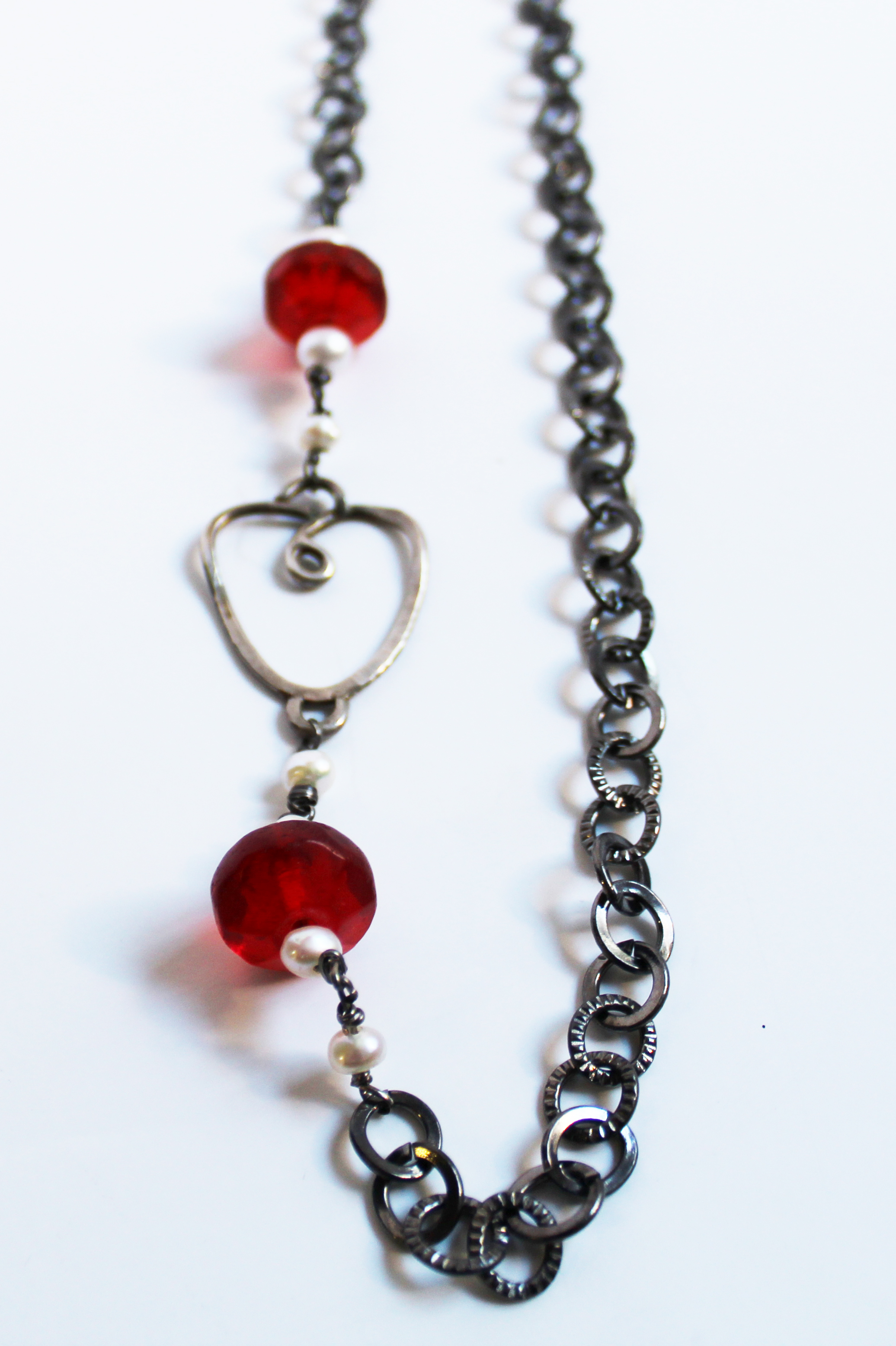 Glass Beads and Pearls Necklace
