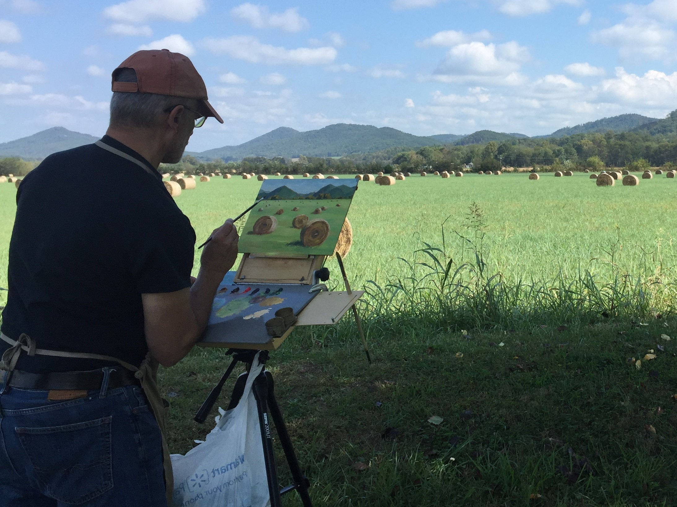 Salerno - painting plein air sketch for Tellico Hay.JPG