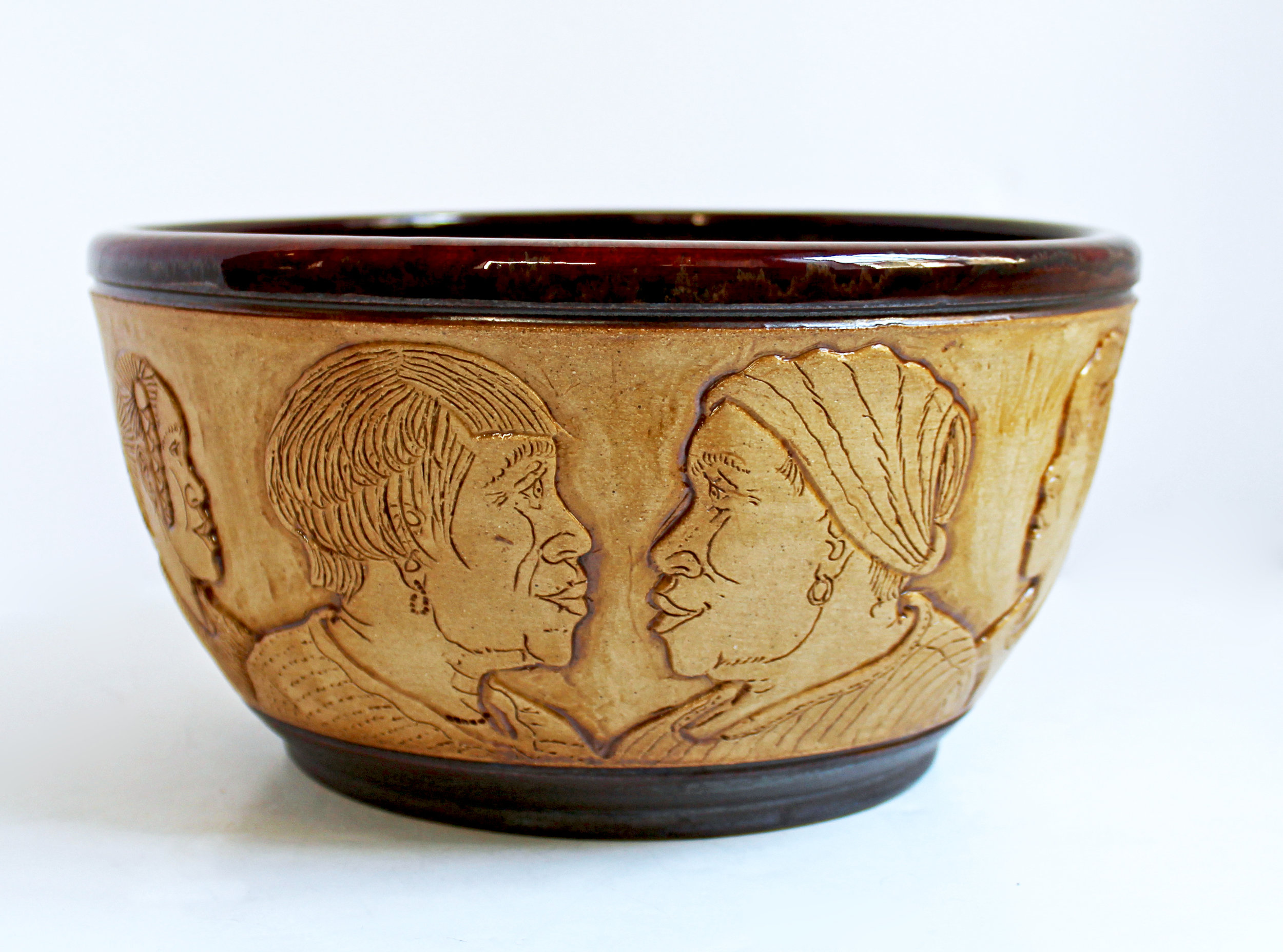 Etched face Bowl