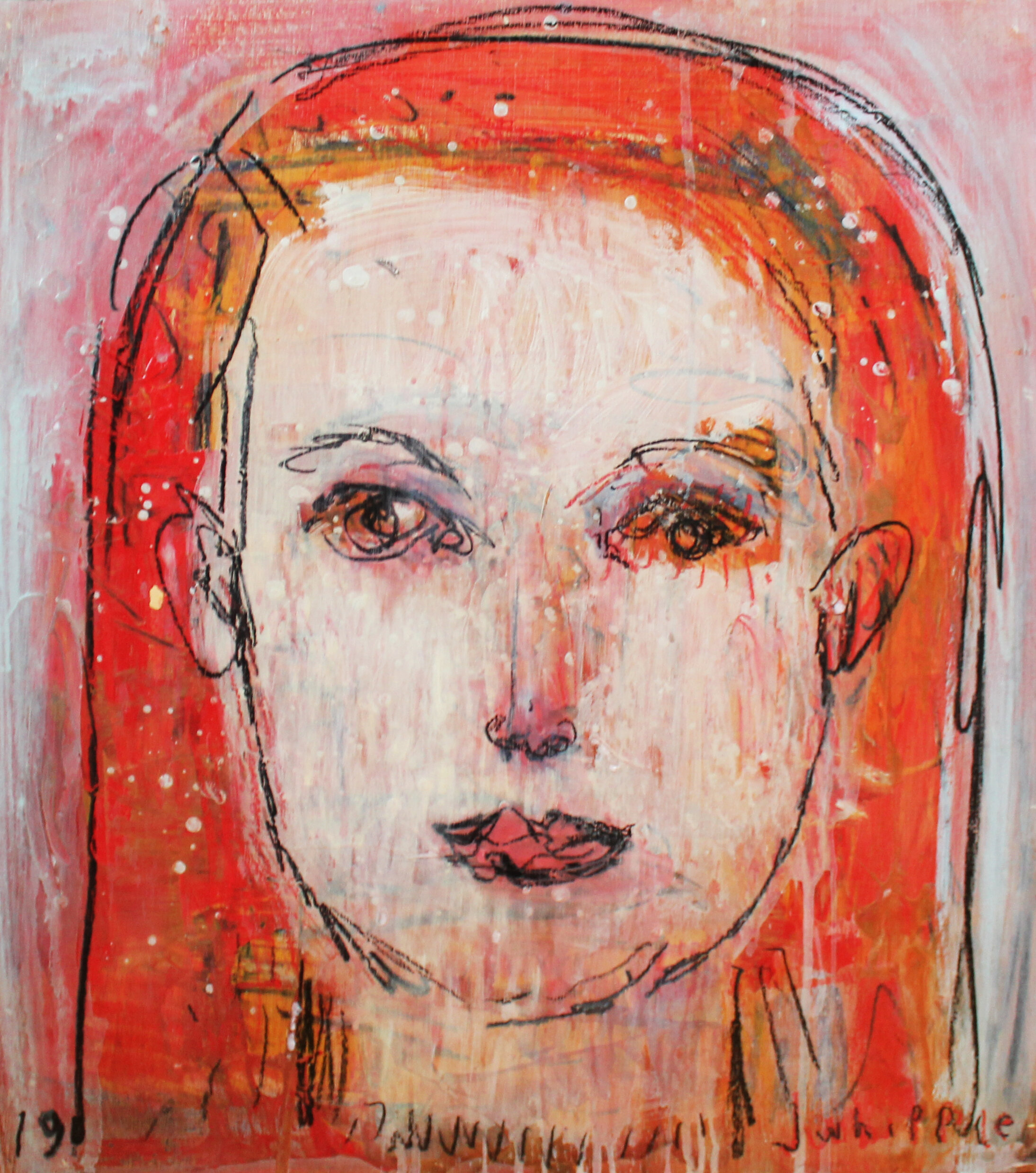 Face Series 3 (Red Girl)