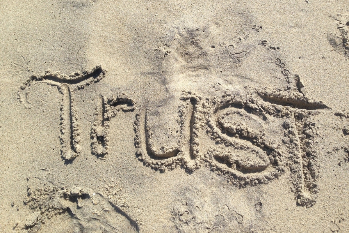 Cultivate trust. - I view trust as something that is born out of the behavioral patterns within a relationship. Just like writing the word TRUST in the sand, it can be easy to trust someone and just like the water can wash away the word in one brief wave, trust can be destroyed quickly and easily. Trust is a vital component for the kind of work I do. Individuals, teams and organizations are trusting me to help them be better and if I cannot be trusted then the work will not happen. Likewise, I need my clients to do what they say they will do – be honest, transparent, have good intentions and be willing to do hard work together.