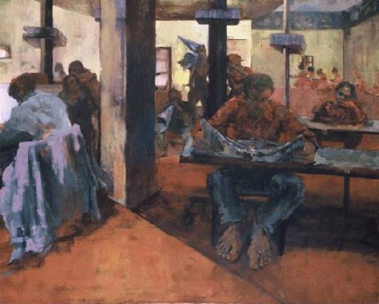 "Concert, Oil on canvas, 48"" x 60"""