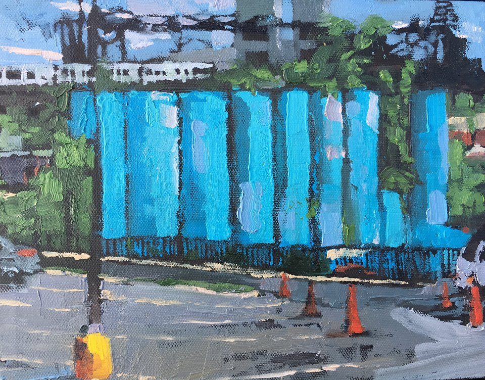 "Rhode Island AVE, Oil on canvas, 8"" x 10"""