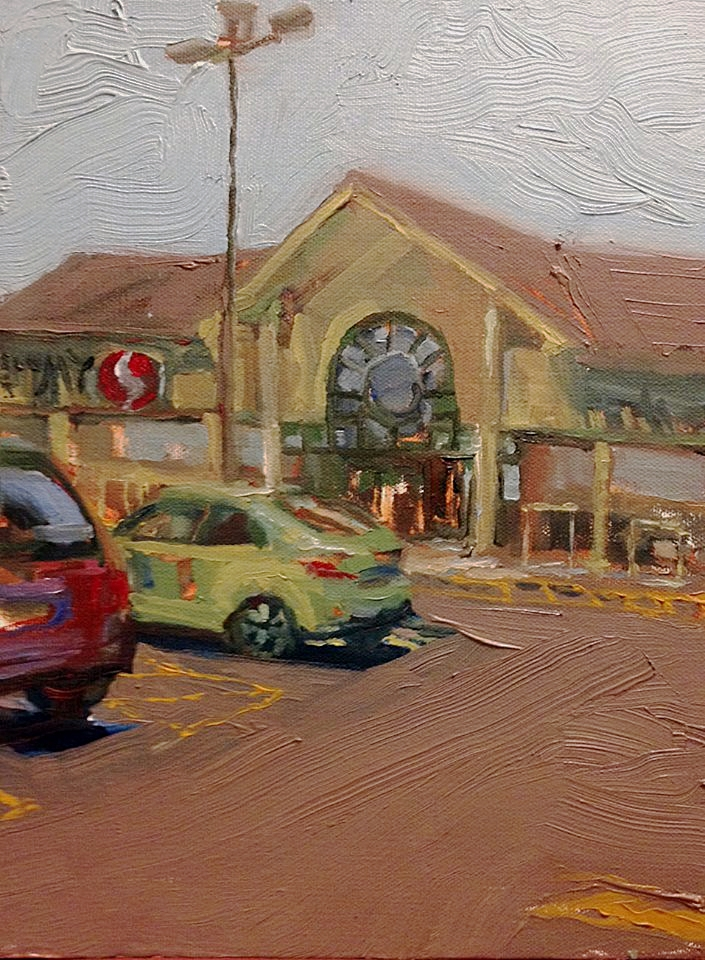 "Safeway, Oil on canvas, 9"" x 6"""