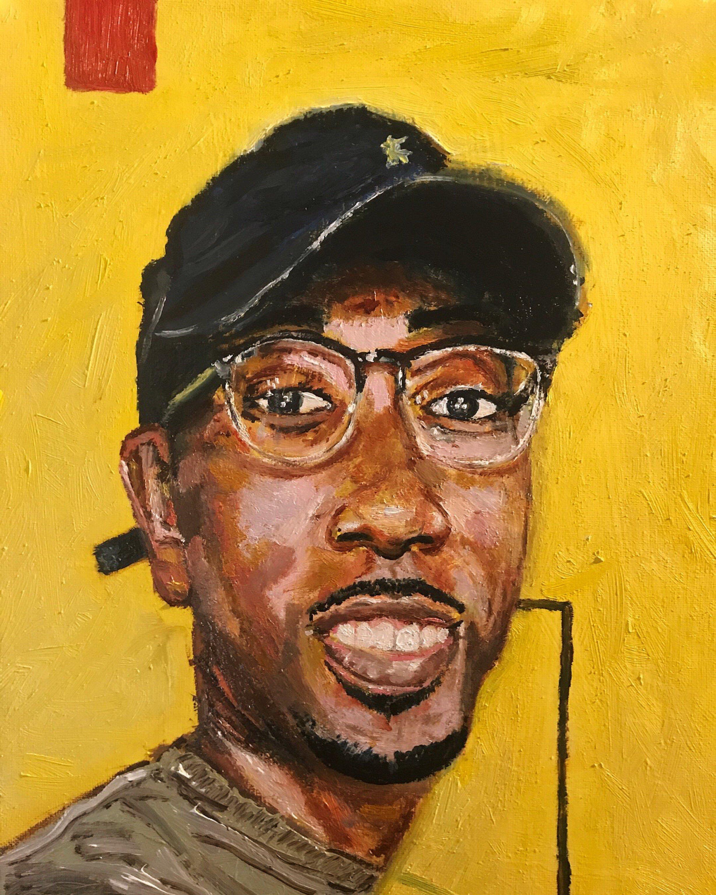 Self-Portrait. 11x14 Acrylic on Canvas.  🔎
