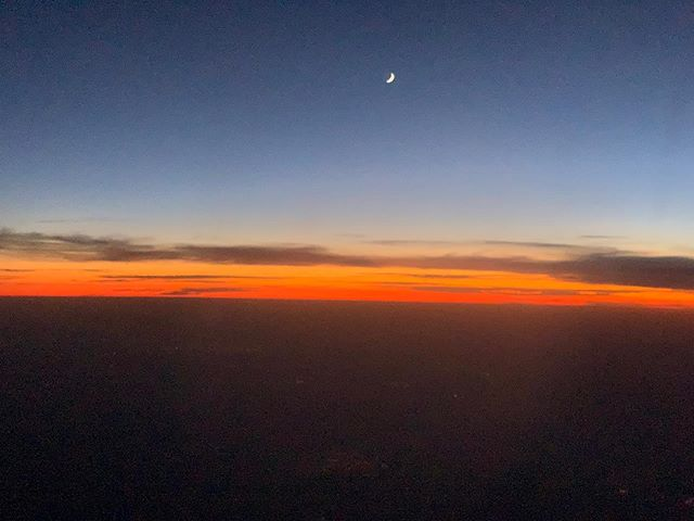 Sunset in the air