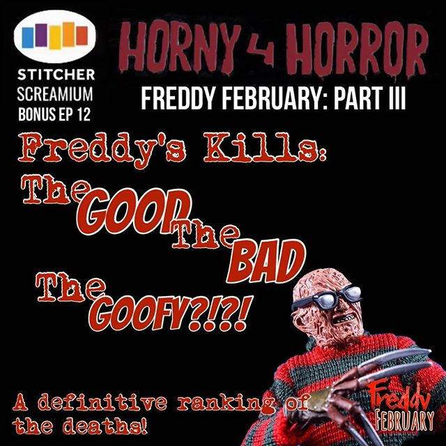 SURPRISE: just like a final jump scare in his movies, Freddy has one ep left in him. . FREDDY'S KILLS: The Good, The Bad, The Goofy?! . Out now on @stitcherpodcasts SCREAMium!
